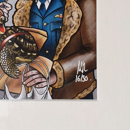 Signed and numbered 'Kipper' limited edition art print by Mel Langton Art