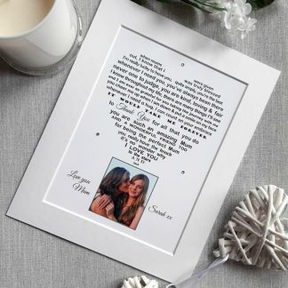 Mum Personalised Poem Print with photo - Unframed