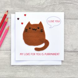 Cat mothers day card