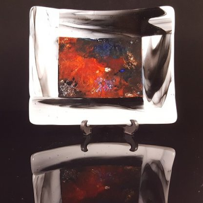 Nebula trinket dish upright view