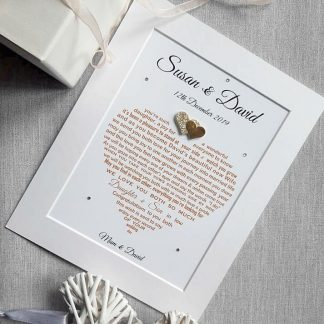 Personalised Daughter and Son in Law Wedding Gift