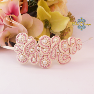 Beaded soutache hairband. MollyG Designs hair accessory