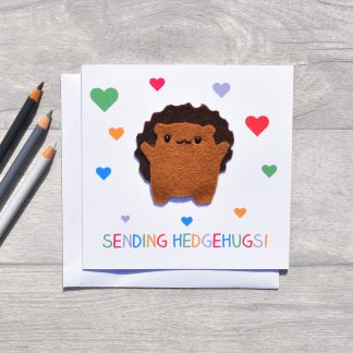 hedgehob mothers day card
