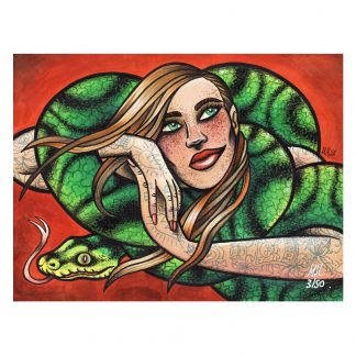 The Snake Limited Edition Giclee Print by Mel Langton Art