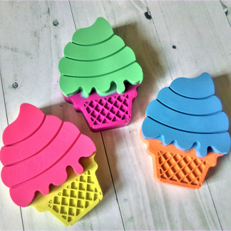 Large ice cream shaped crayons in dual pastel colours
