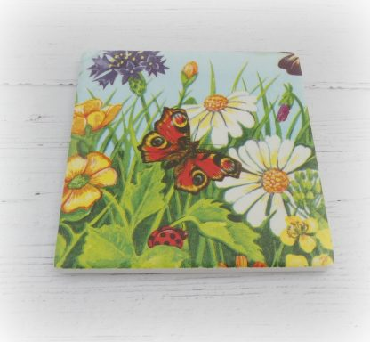 Bright flowers individual coaster
