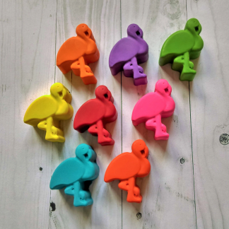 flamingo shaped non toxic wax crayons