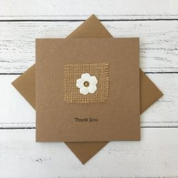 Crofts Crafts flower thank you card