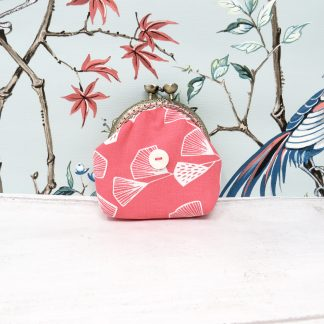 Coral pink coin purse