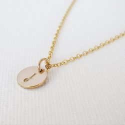 Personalised Gold Filled Initial Disc Necklace
