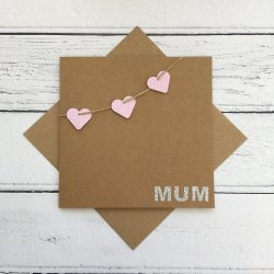 Crofts Crafts Mother's Day Card - heart bunting