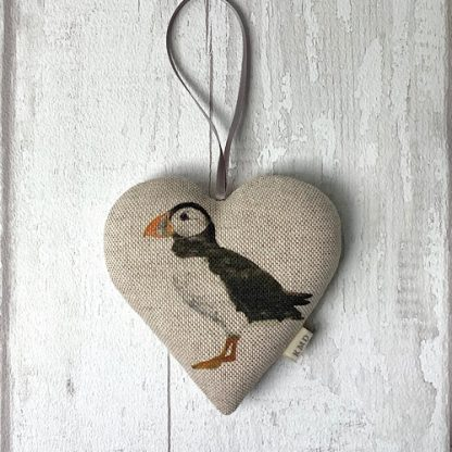 Hanging Heart - Puffin