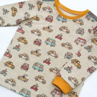 Organic cotton t-shirt with mini cars and animals