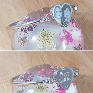 Engraved Personalised Heart Bangle