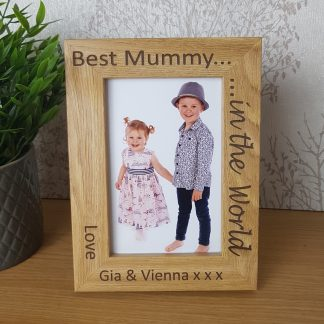 Best Mummy in the World photo Frame