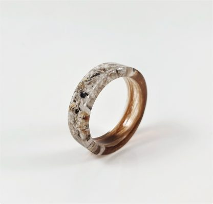 hair ashes ring memorial cremation jewellery resin