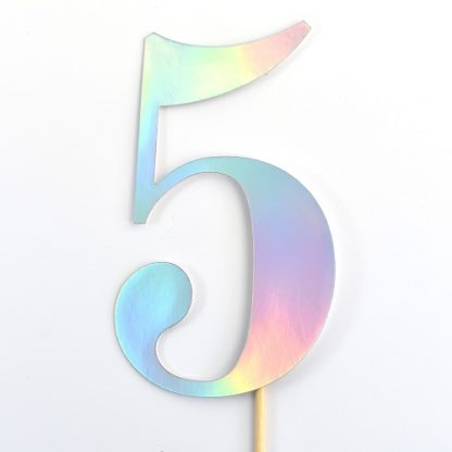 Number Cupcake Toppers - Holographic