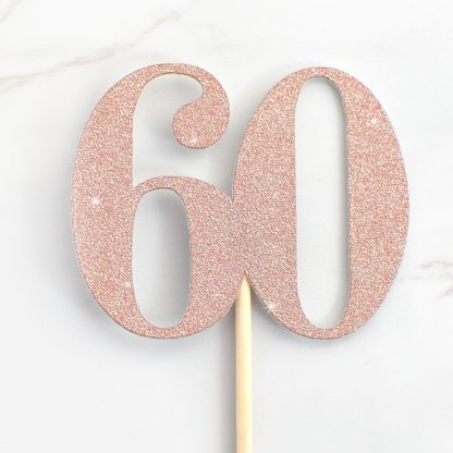 Number Cupcake Toppers - Rose Gold