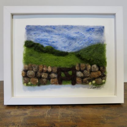 Over the Hill Needle Felting Picture Kit. Louise Hancox Textile Artist