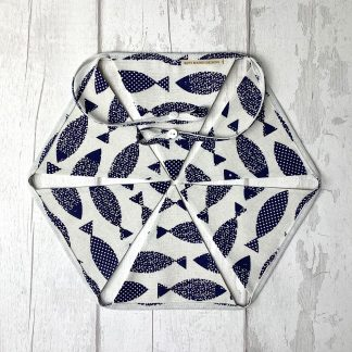 Bunting - Blue and White Fish
