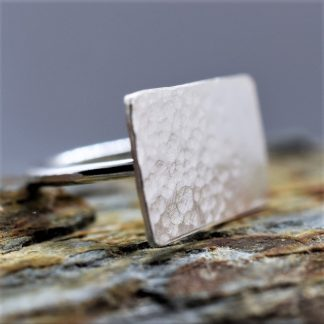 large dimpled silver ring