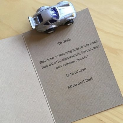 driving test card printed inside