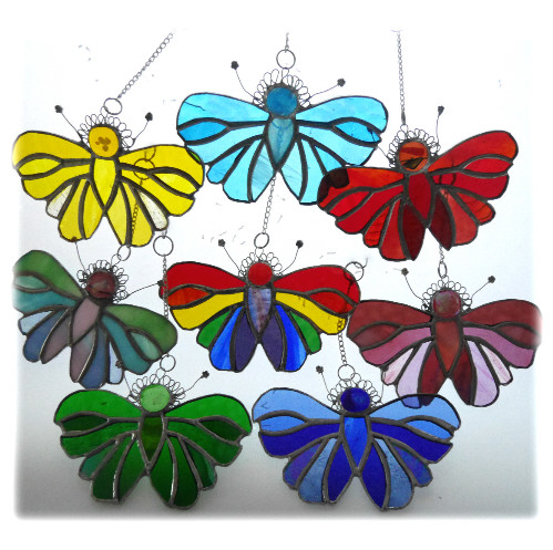 stained glass butterfly suncatchers lots of colours rainbow