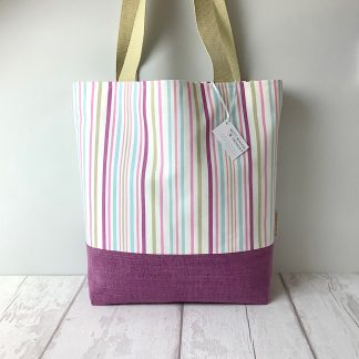Tote Bag - Candy Stripes