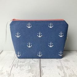Cosmetic Bag - Blue Anchors