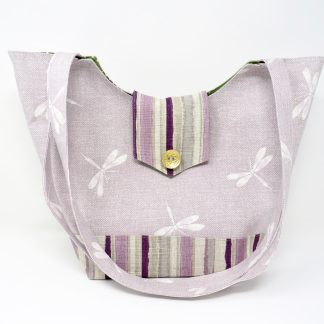 Lilac Dragonfly tote