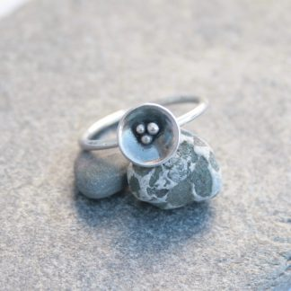 Sterling silver domed ring by Thistledown Wishes
