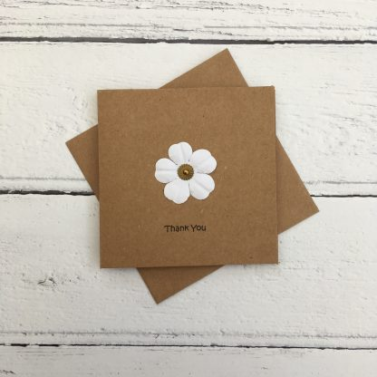 Crofts Crafts mini flower thank you card