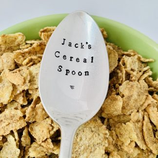 personalised cereal spoon