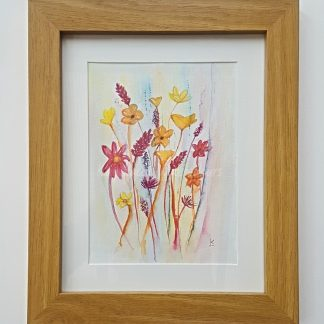 Meadow Warmth framed Watercolour