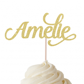 Personalised Name Cupcake Toppers