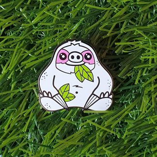 Slothypops the Sloth hard enamel pin badge, by Mel Langton Art