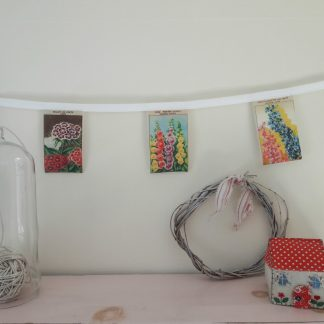 Floral bunting decoration