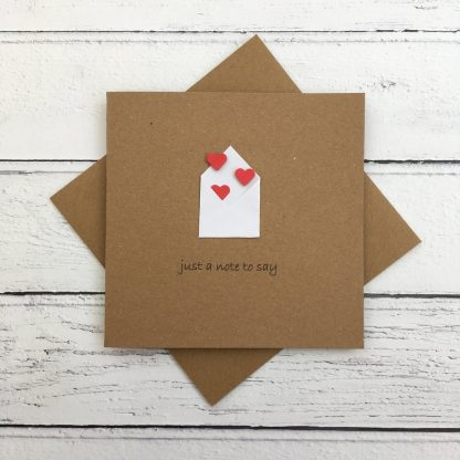 Crofts Crafts just a note to say card