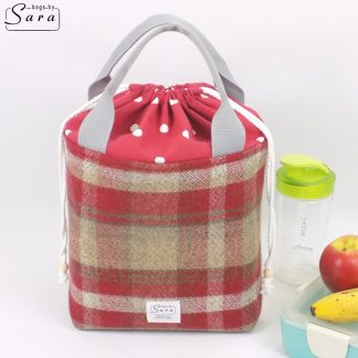 Red Insulated Lunch Bag