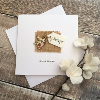 Crofts Crafts new baby card welcome little one