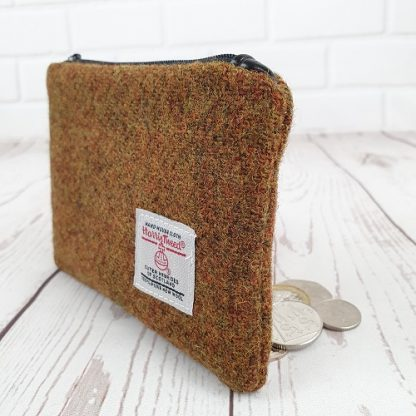 Brown Harris Tweed coin purse