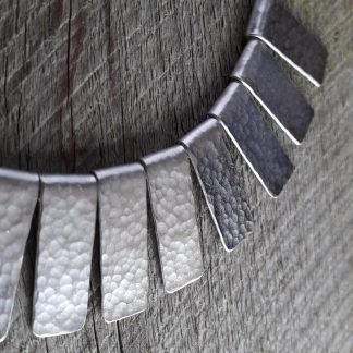 Silver hammered necklace