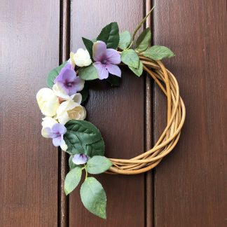 Purple mini wreath