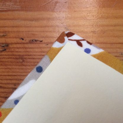 Fabric covered notebook