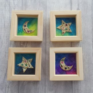 Glow in the Dark Moon and Star Children's Space Decor