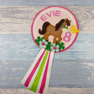 Horse Birthday Badge - Personalised