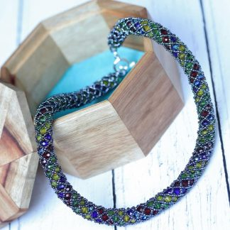 'Stained Glass' Netted Necklace