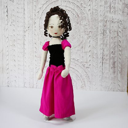 Prom doll in pink dress