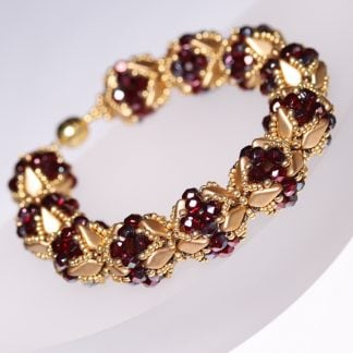 Statement Bracelet in Red and Gold