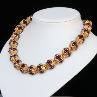 Statement Necklace in Red and Gold